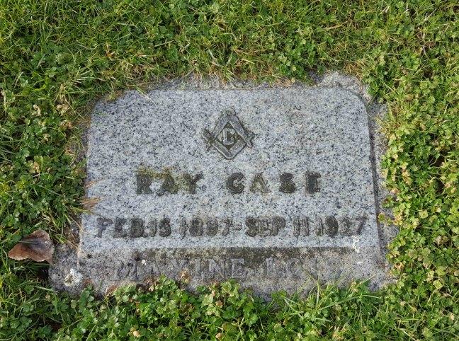 Ray Case grave marker, Bowen Road Cemetery, Nanaimo, B.C.
