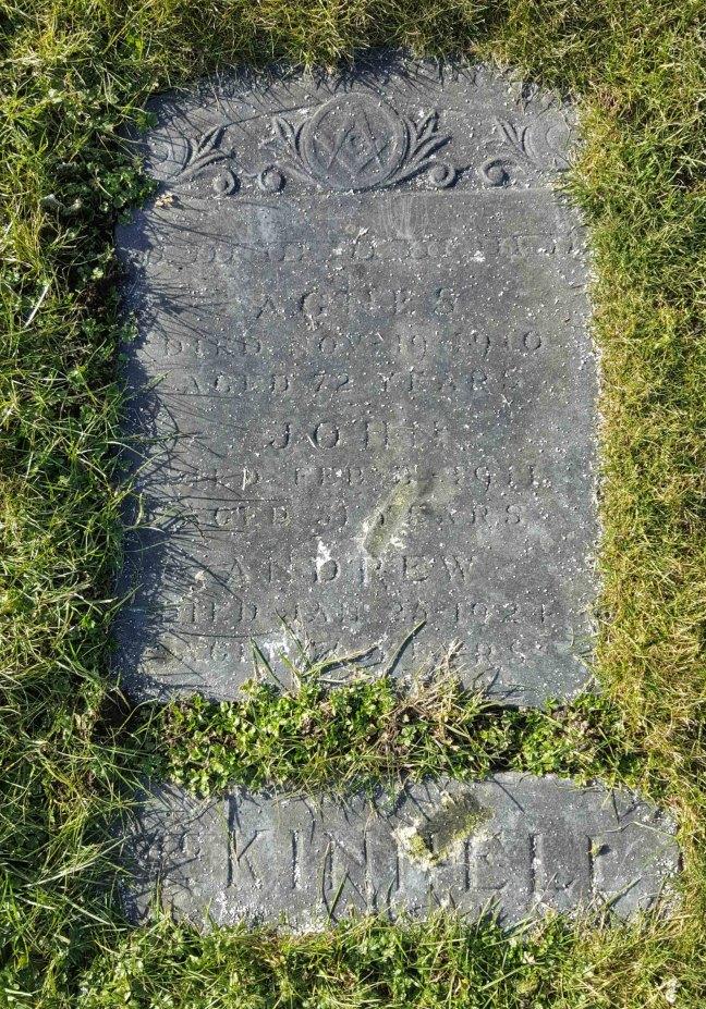 Andrew McKinnell grave marker, Bowen Road Cemetery, Nanaimo, B.C.