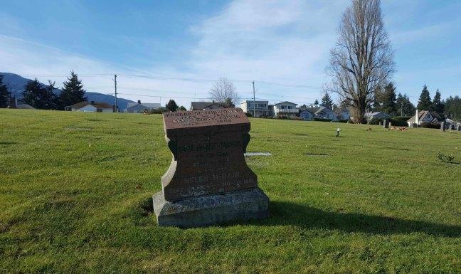 Frederick McBain Young (P.G.M.) grave, Bowen Road Cemetery, Nanaimo, B.C.