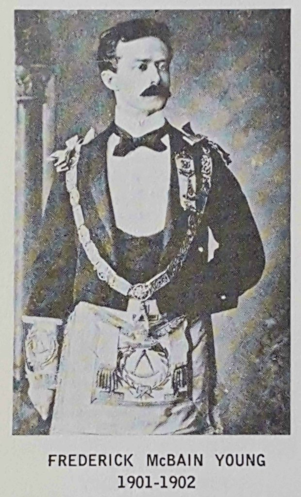 Frederick McBain Young as Grand Master, 1901-1902