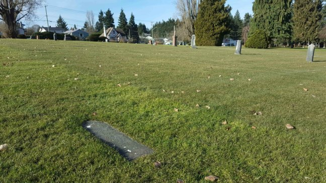 George Bevilockway grave, Bowen Road cemetery, Nanaimo, B.C.