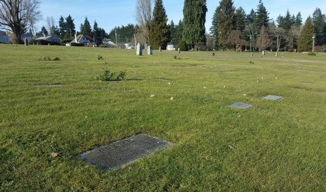 James Frame grave, Bowen Road Cemetery, Nanaino. B.C.