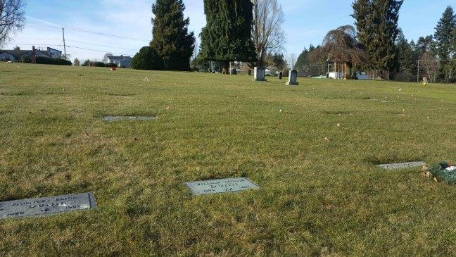 William Lorne Dunn grave marker, Bowen Road cemetery, Nanaimo, B.C.