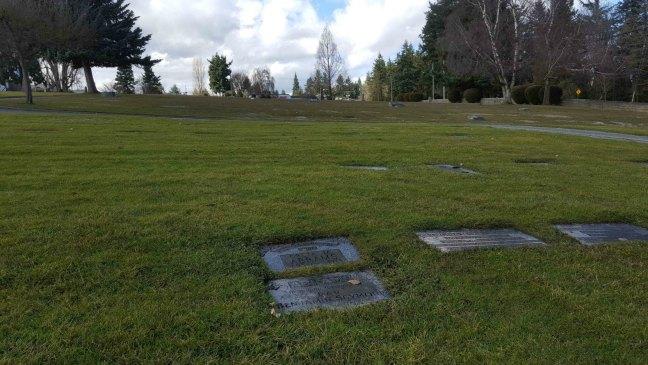 Benjamin Seymour Abrams grave, Bowen Road Cemetery, Nanaimo, B.C,