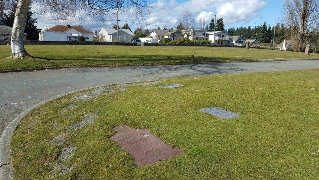 Frederick Lucas Cock grave, Bowen Road Cemetery, Nanaimo, B.C,