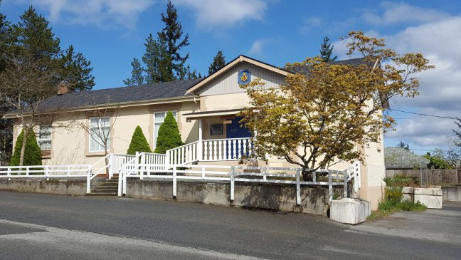 Morpeth Masonic Hall, 620 Morpeth Avenue, Nanaimo, BC. (photo by Ashlar Lodge No. 3 Historian)