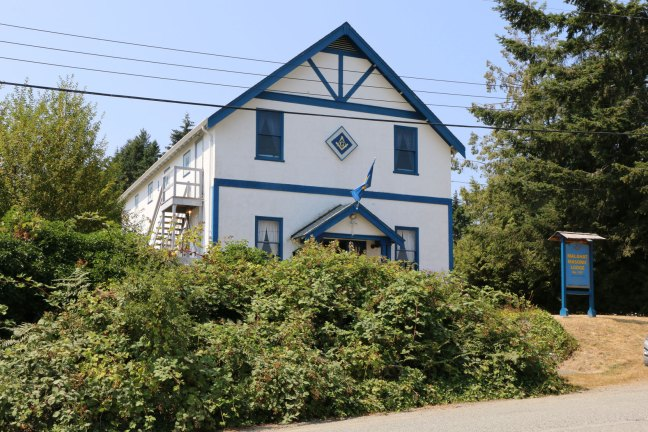 Malahat Masonic Hall, 2748 Lashburn Road, Mill Bay, B.C. (photo: Ashlar Lodge No. 3 Historian)