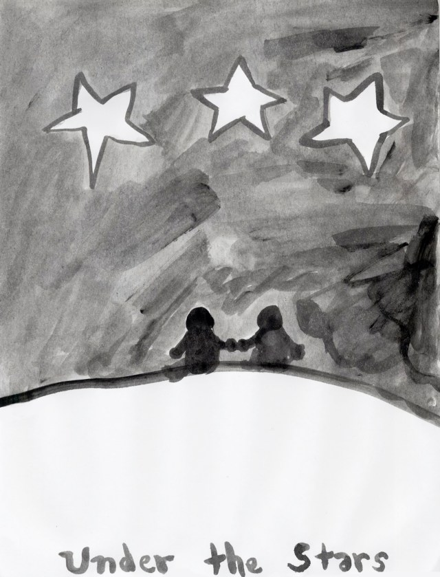 Under the Stars - from Summer Poetry Art Book by Ashlee Craft