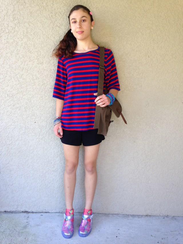 Red + Blue, Again - Recent Outfits of the Day, October 27, 2015 // ashleecraft.com