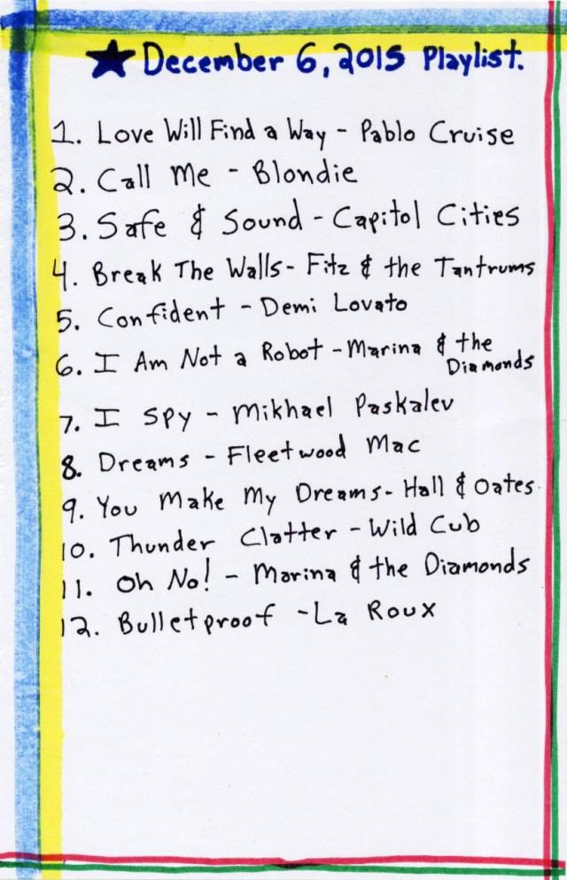 December 6, 2016 // Playlist