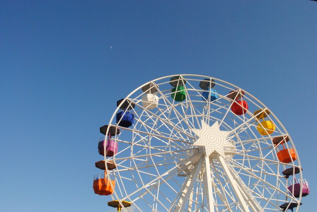 Colorful whimsical ferris wheel