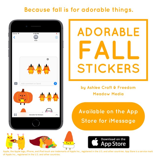 Adorable Fall Stickers App Ad 2