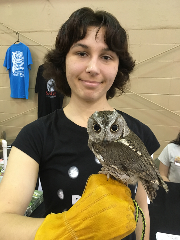 Me Holding an Owl at Friends of Largo Nature Parks - Tampa Repticon