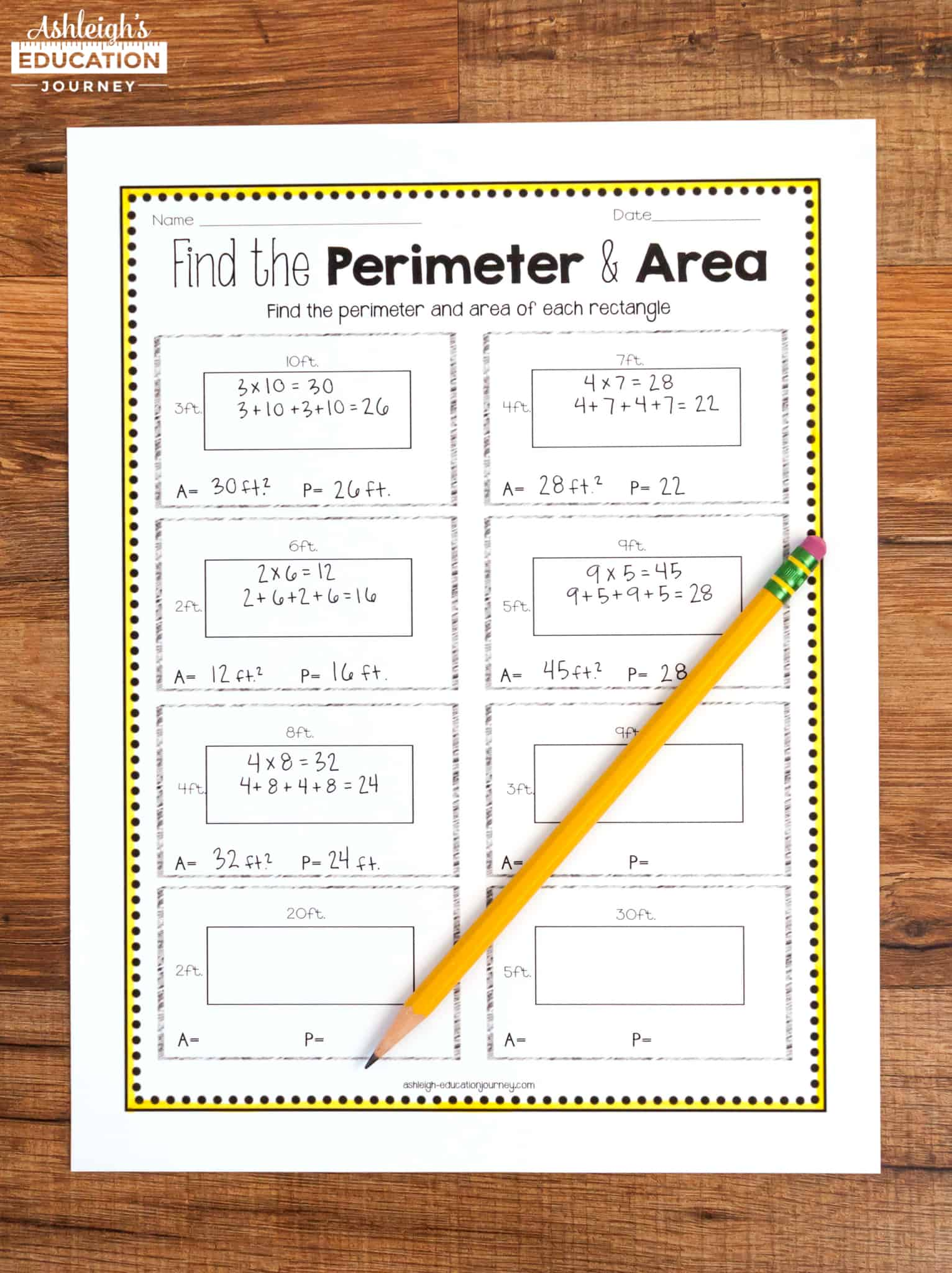 Teaching Area And Perimeter