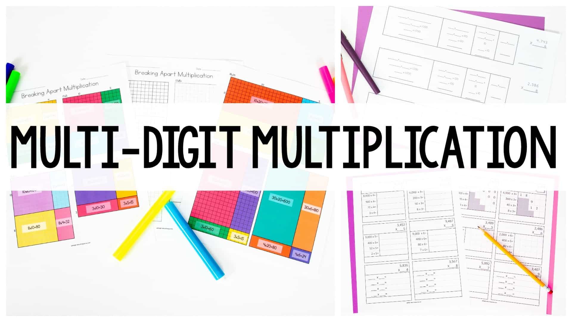Guided Worksheet Double Digit Multiplication