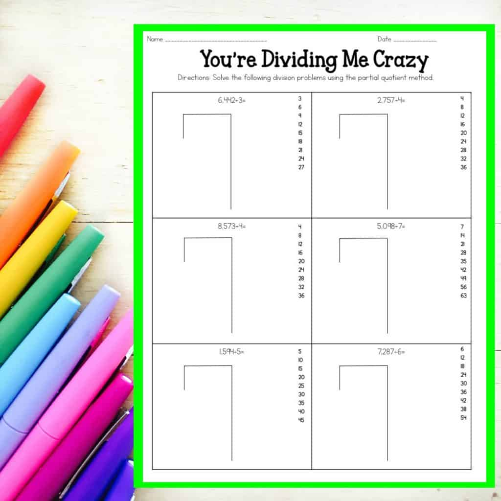 How To Teach Long Division Worksheet