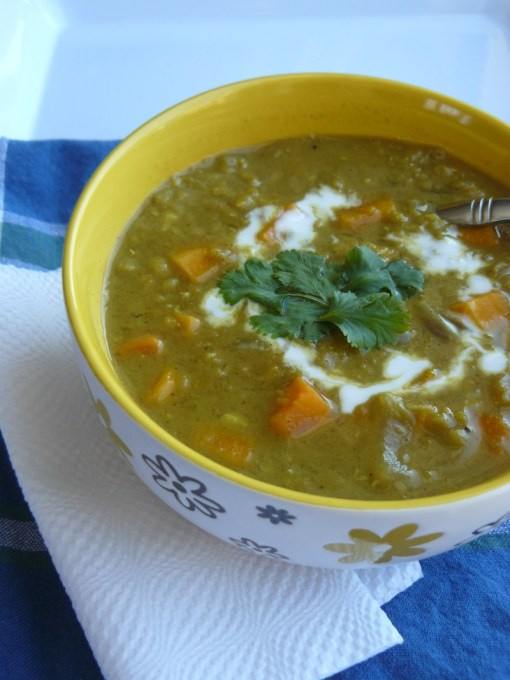 Super Curried Red Lentil & Sweet Potato Soup