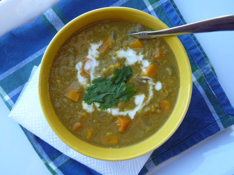 Super Curried Red Lentil and Sweet Potato Soup