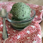 Basil Chocolate Chip ice cream (dairy-free)