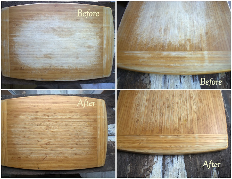 Cutting board - cutting board oil before after sm