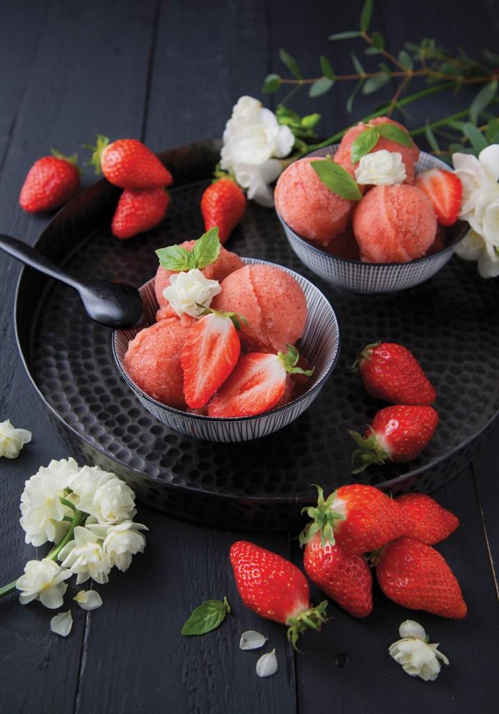 TomatoStrawberryBasilSorbetVeganIceCream