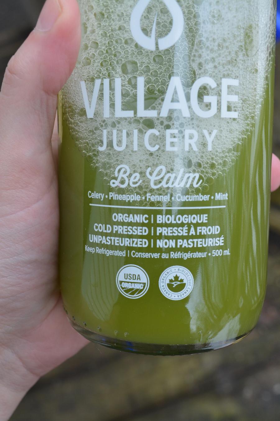Be Calm juice by Village Juicery