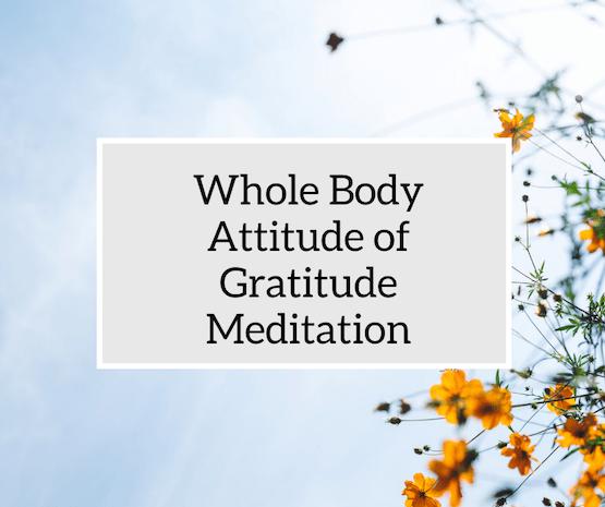 Whole Body Gratitude Meditation