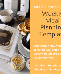 Weekly Meal Planning PDF templates