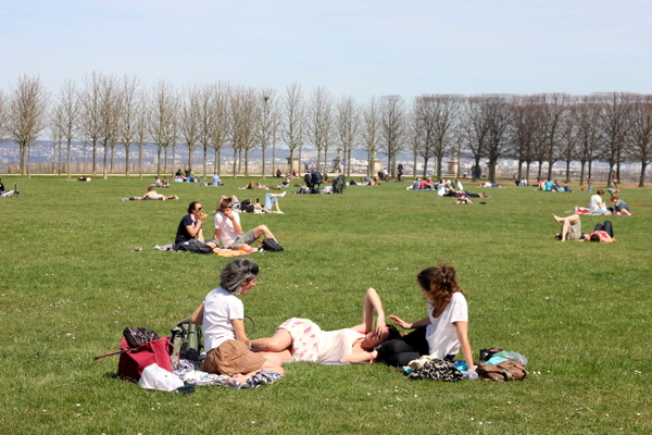 A Blissful Sunday Picnic in a French Park