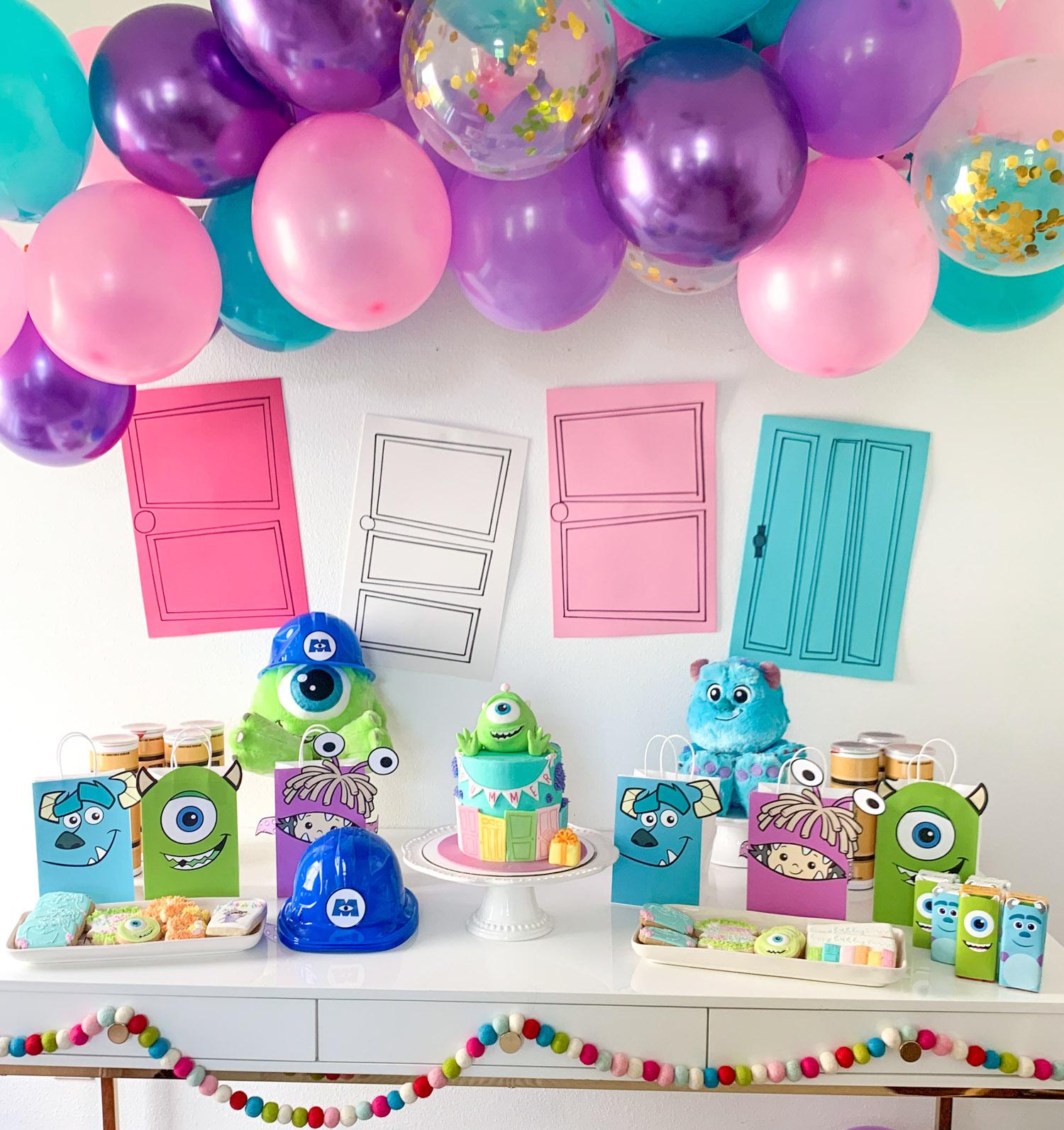 Monsters Inc Birthday Party Ideas Ashley Brooke Nicholas