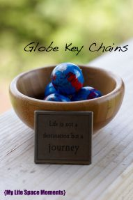Globe Key Chains as Party Favors - {My Life Space Moments}