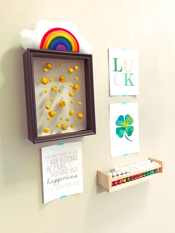 DIY St. Patrick's Day Shadow Box Mobile