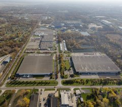 Industrial Property for Lease Michigan - Romulus Business Center Aerial