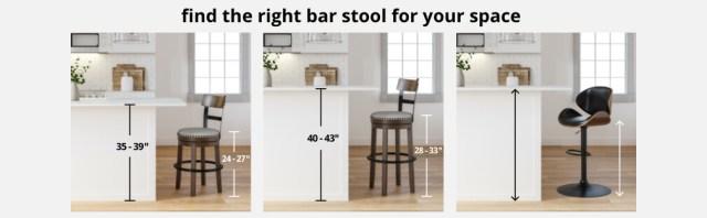 Counter Height  C2 B7 Bar Height