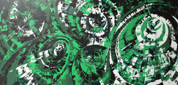 2-paint-on-canvas-green-black-white