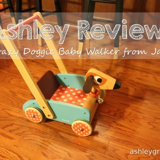 Ashley Reviews:  Crazy Doggy Baby Walker from Janod