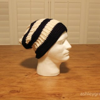 Ashley Makes:  Crochet Slouchy Hat