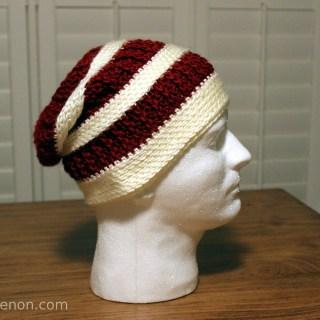 Ashley Makes:  Crochet Slouchy Hat #3