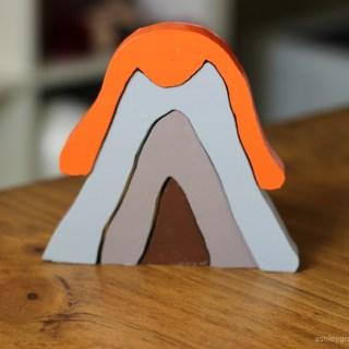 DIY Volcano Wooden Stacker