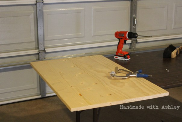 1x12 Boards joined together with Kreg Jig pocket holes