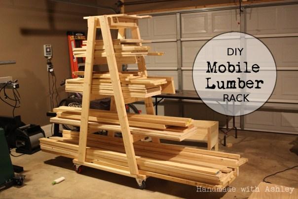 Ashley Makes: DIY Mobile Lumber Rack