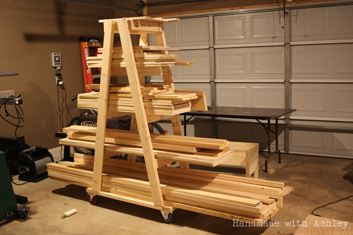 diy mobile lumber rack plans by rogue engineer