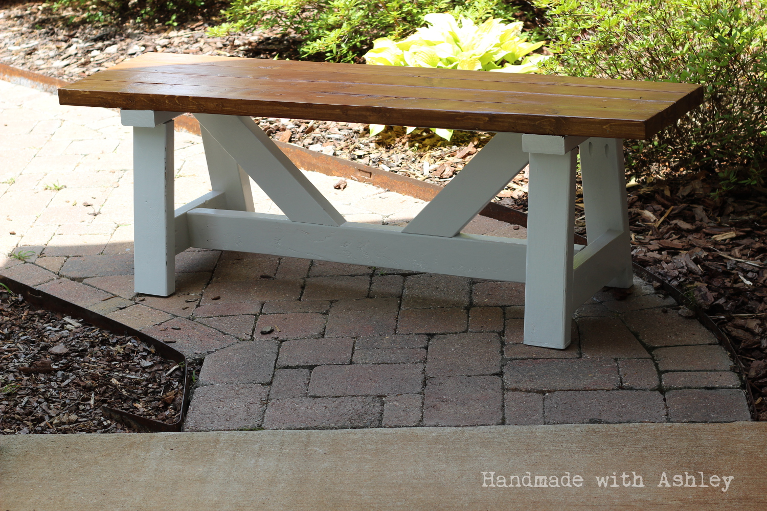 diy providence bench plans by ana white handmade ashley the finished providence bench