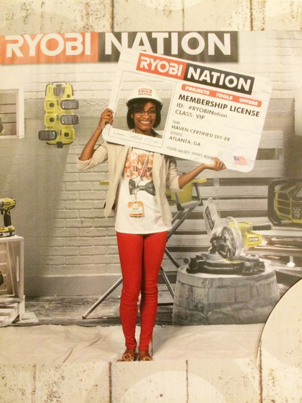 Photo booth and the Ryobi Nation booth