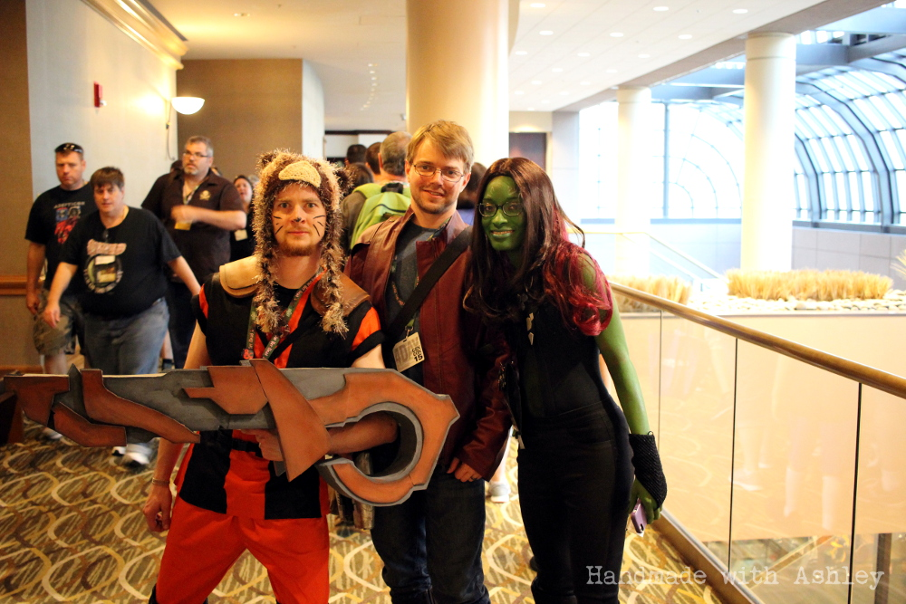 Rocket Raccoon, Star Lord and Gamora