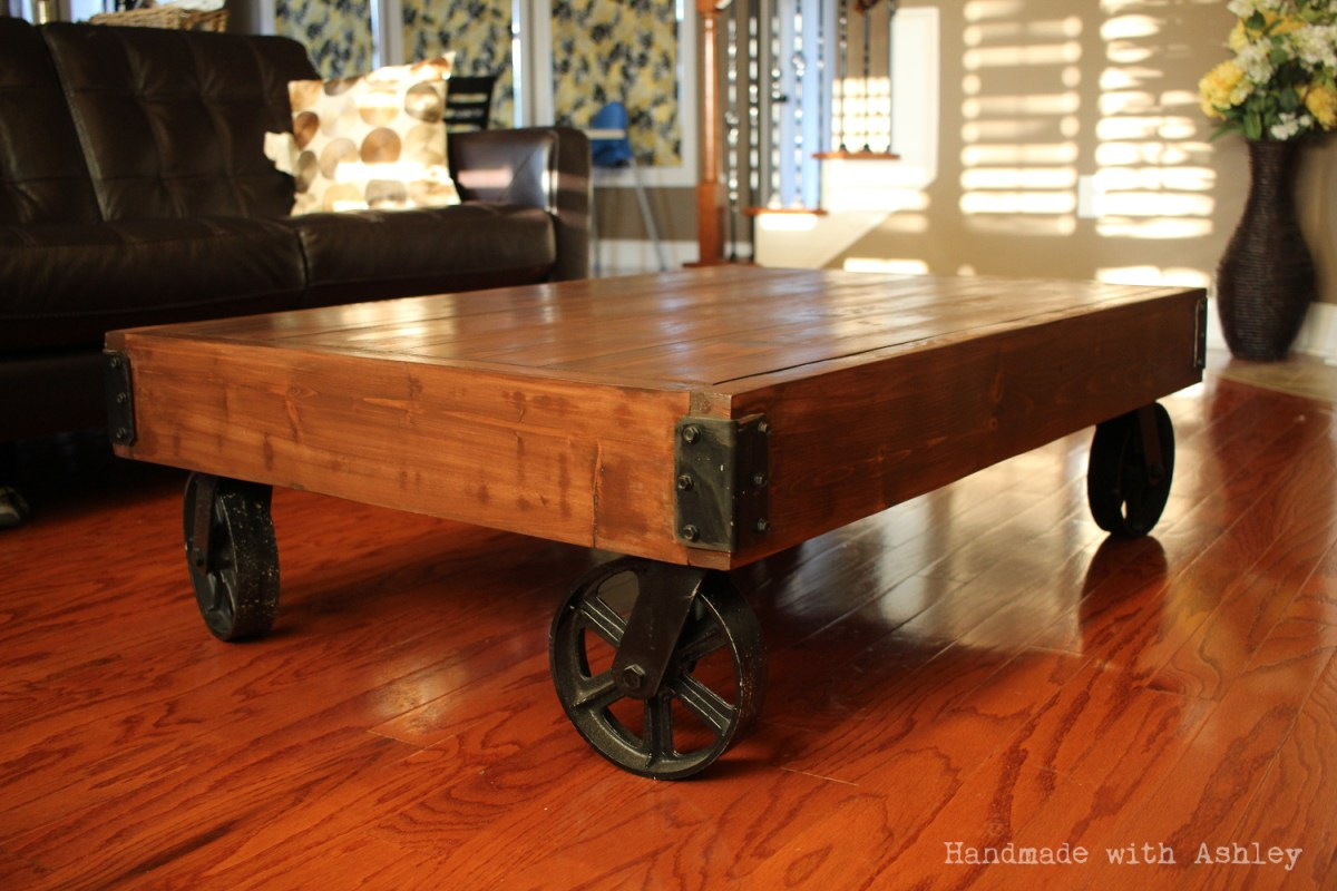DIY Industrial Factory Cart Coffee Table (Plans by Rogue Engineer)