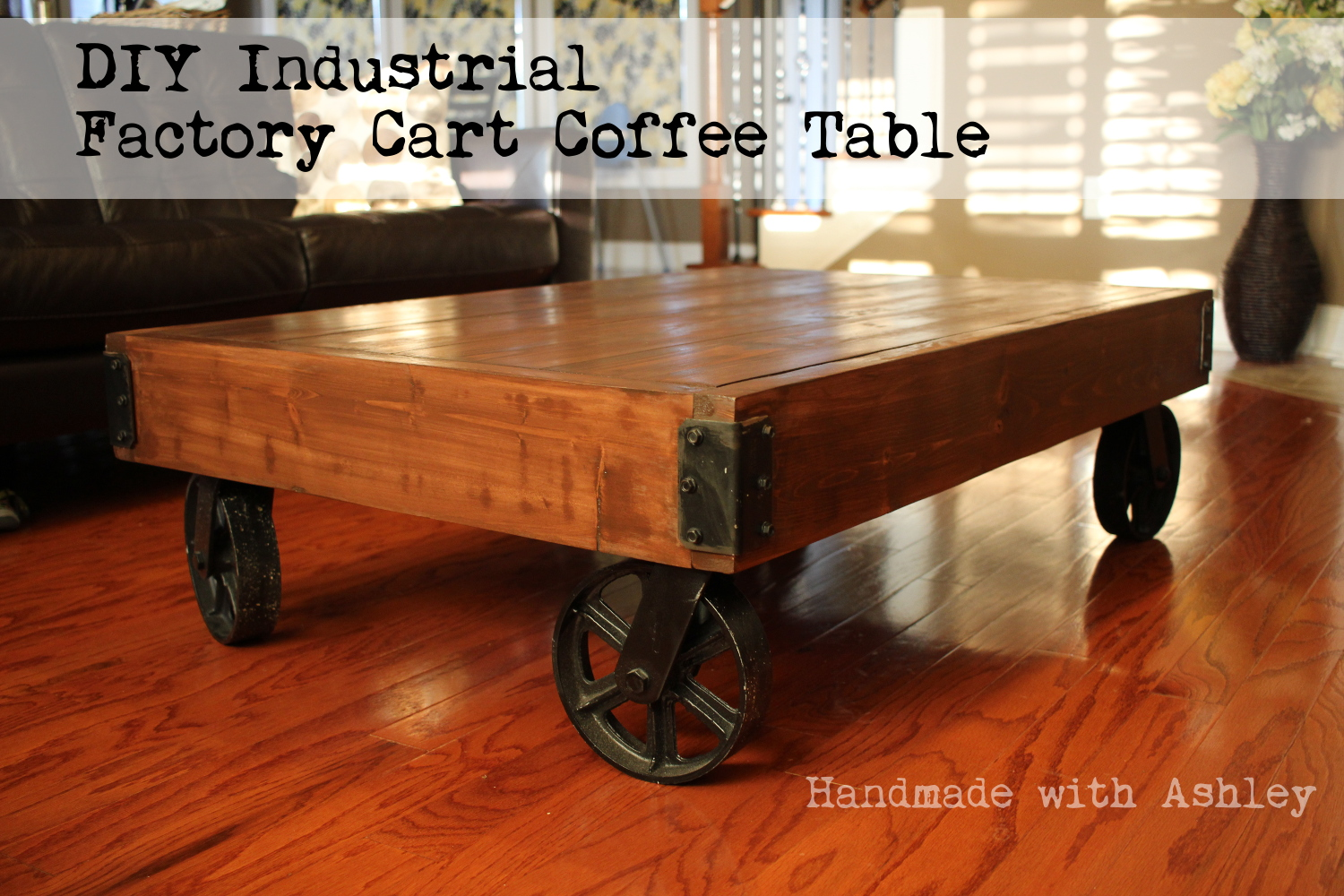 Coffee Table Plans.Diy Industrial Factory Cart Coffee Table Plans By Rogue Engineer