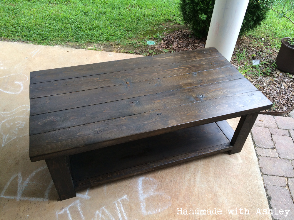 DIY Rustic X Coffee Table (Plans by Ana White) - Handmade ...
