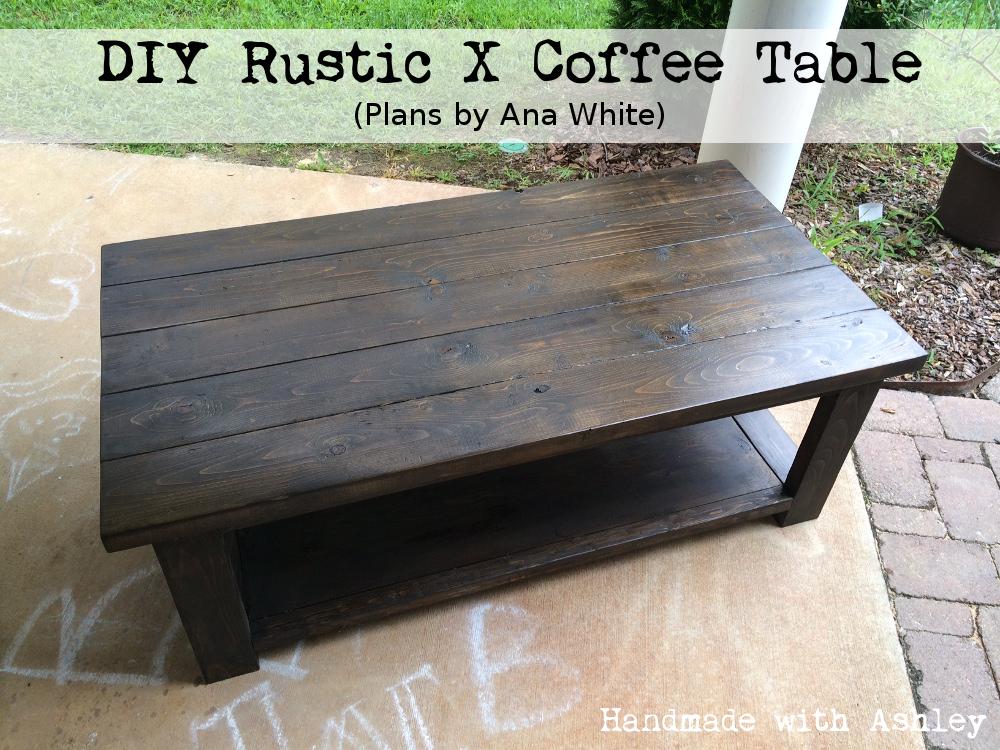 DIY Rustic X Coffee Table
