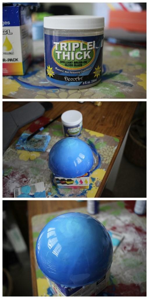 Applying Triple Thick gloss glaze